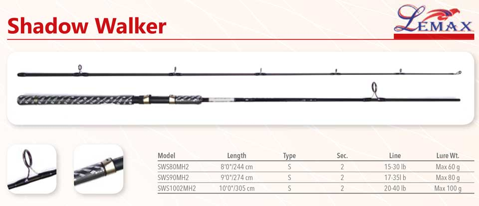 baracuda no1 stapovi za ribolov lemax shadow walker